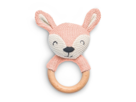 Jollein Bijtring Deer Ø 7cm - Pale Pink