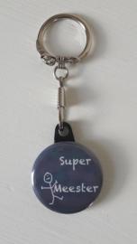 Sleutelhanger Super Meester Blauw