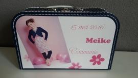 Koffertje met opdruk van communiekaart