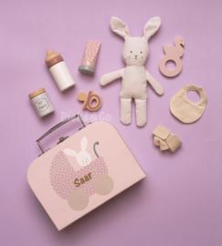 Baby Koffer Bunny met naam
