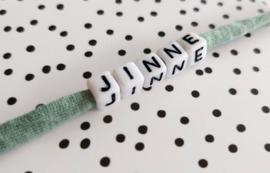 Armbandje met naam Groen