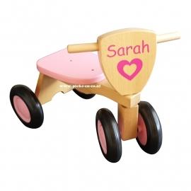 Houten Loopfiets met naam Sarah