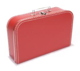 Koffertje met opdruk van geboortekaartje Rood