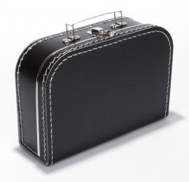 Koffertje met opdruk van geboortekaartje Zwart