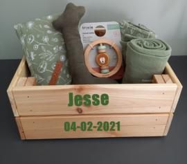 Kraampakket gevuld kistje met naam Olive