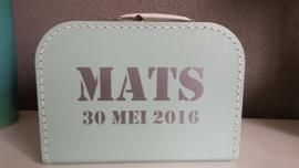 Koffertje met naam Mintgroen voor Mats