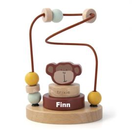 Trixie Houten kralenframe - Mr. Monkey met naam