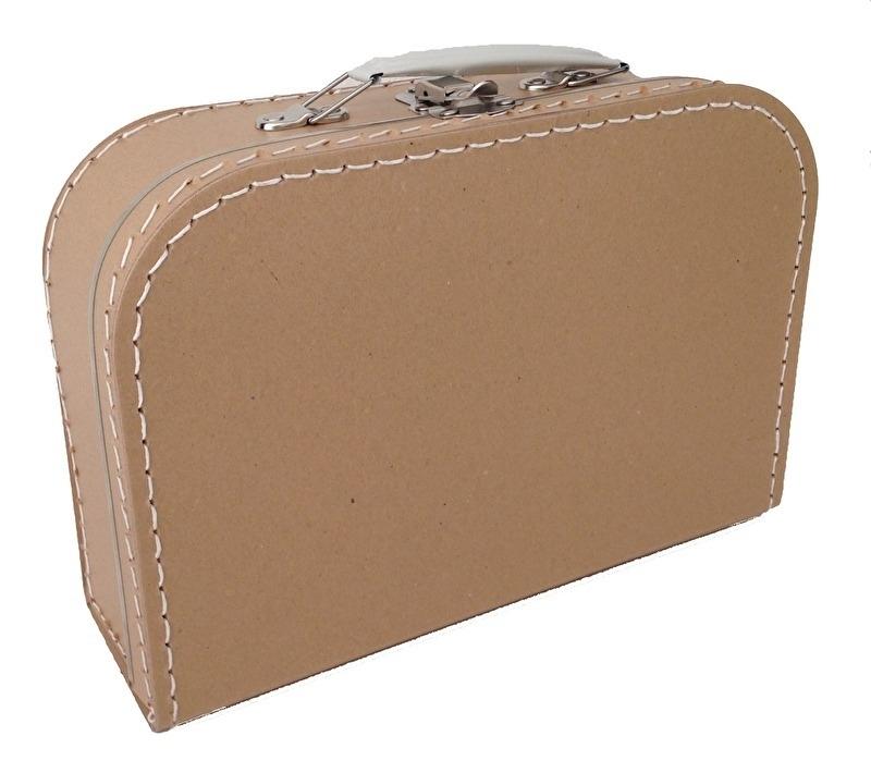 Koffertje met opdruk van geboortekaartje Kraft