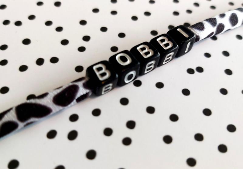 Armbandje met naam Zebra