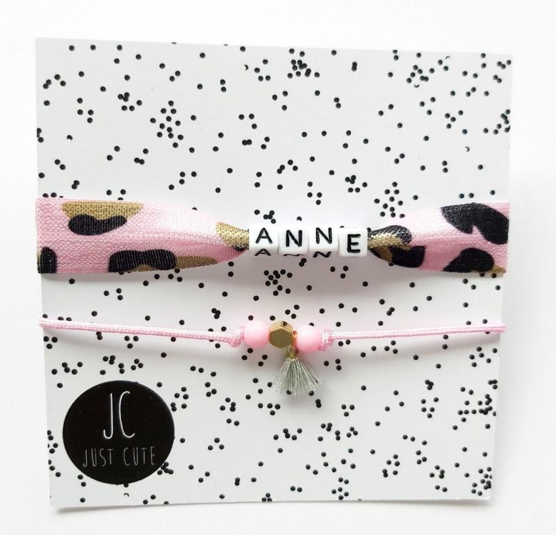 Armbandje met naam Anne