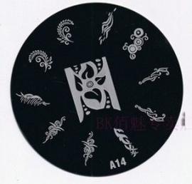 image plate A-14 (diameter 7cm)