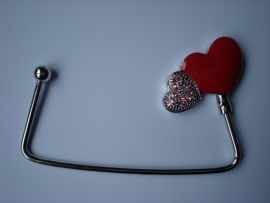 bag hanger Double heart
