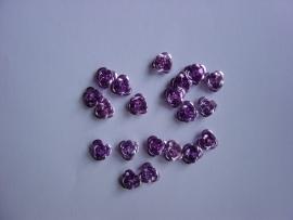 Metalen roosjes paars (20stuks)
