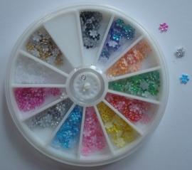 Carousel stoffen bloemen 5mm (12kleuren)