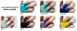 Matte nail polish collection PF