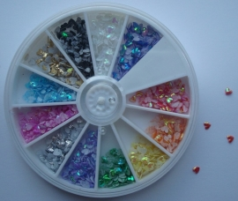 Carousel fabric hearts 3mm (12colors)