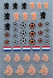 nagelsticker voetbal oranje