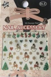 TJ50 Kerst nagelsticker