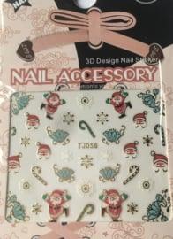 TJ56 Kerst nagelsticker