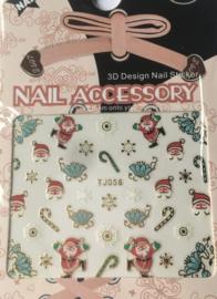 TJ56 christmas nailstickers