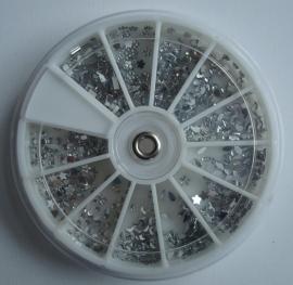 Carousel strass steentjes, diamant 12 modellen