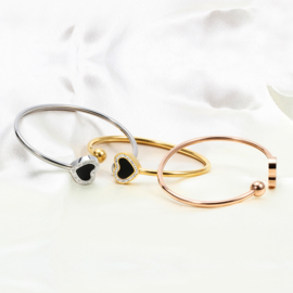 Happy Heart Bangle - Silver / Gold / Rose Gold