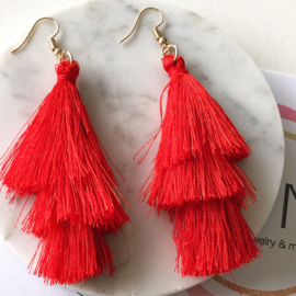Tripple Fringe Earrings