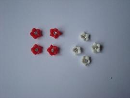 3D bloemen +diamantje (48stuks)