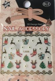 TJ58 Kerst nagelsticker