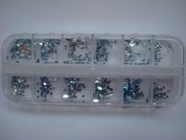 Licht blauwe strass collectie 12 modellen!