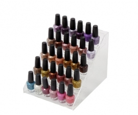 nail polish display,stairs