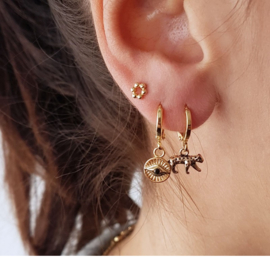Curious Eyes Earrings - Gold / Silver