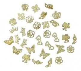 Carousel metalen flakes goud nr.43