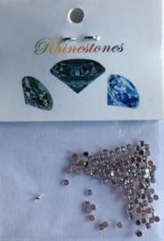 strass 1mm, kleur: diamant +/-100stuks