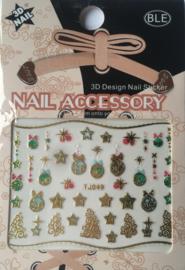 TJ49 christmas nailstickers