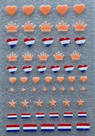 nagelstickers Oranje hartje