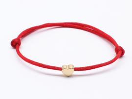 Touwtjes armband met hartjes detail