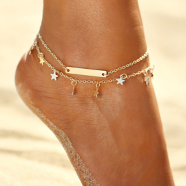 Star Anklet - Gold / Silver