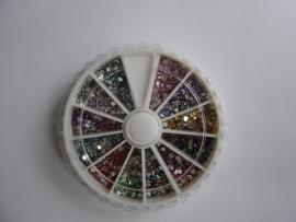 Carousel strass steentjes model: rond AB kleur (2mm)