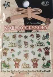 TJ55 christmas nailstickers