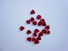 Metalen roosjes rood (20stuks)