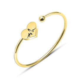 Heart Beat Bangle