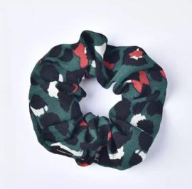 Scrunchie - Leopard  Groen