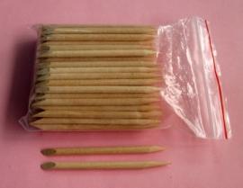 houten stokje kort 7,5cm (5stuks)