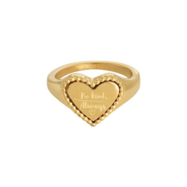 Be kind - Signet ring goud