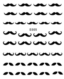wts black mustache D305