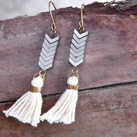 Arrow Fringe Earrings
