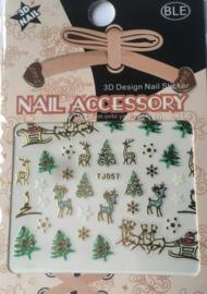 TJ57 Kerst nagelsticker