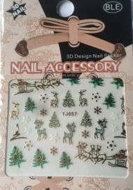 TJ57 christmas nailstickers