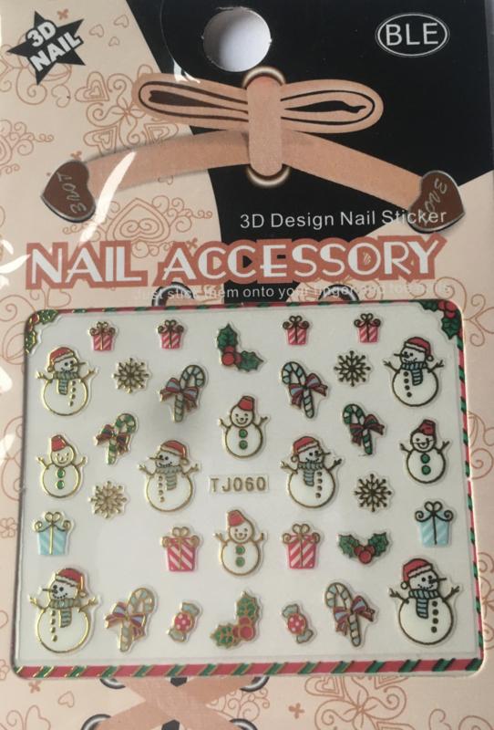 TJ60 Kerst nagelsticker